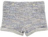 River Island Mini girls blue jacquard shorts