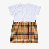 Burberry Ruby Dress (Little Kids/Big Kids) (White) Girl's Clothing