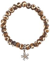 Loree Rodkin tribal bead diamond charm bracelet