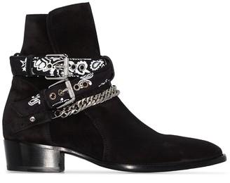 Amiri Bandana ankle boots