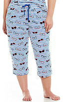 Sleep Sense Plus Stripes & Glasses Capri Sleep Pants