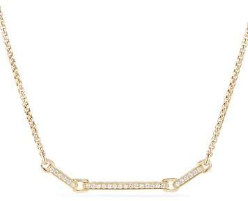 David Yurman Petite Pavé Station Necklace with Diamonds in 18K Gold