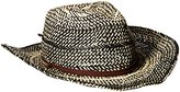 D&Y Women's Two Tone Cowboy Hat with Chinstrap