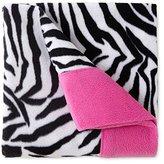 Sunbeam Super-soft Heavyweight Fleece Sheet Set{zebra Striped} Twin Size