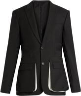 Givenchy Contrast-pocket wool-blend blazer