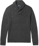 Polo Ralph Lauren - Shawl-collar Wool And Cashmere-blend Sweater