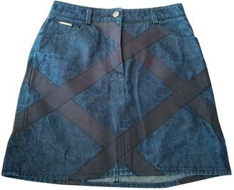 Valentino Blue Cotton Skirt for Women Vintage
