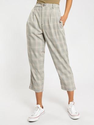 Stussy Prescott Pants in Off White Check