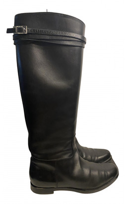 Unützer Black Leather Boots