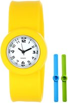 Slide Kids' SL3P-JRYLUGR Slap 3PAQ Junior Yellow, Light Blue and Green Watch