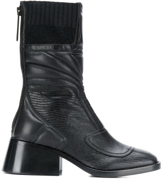 Chloé Bell contrast panel boots