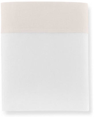 Peacock Alley Mandalay Cuff Flat Sheet - Blush King