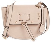 Sole Society Studded Faux Leather Crossbody Bag - Pink