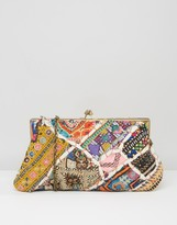 Raga Small Metal Framed Clutch Bag