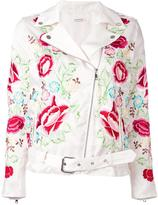P.A.R.O.S.H. embroidered floral biker jacket