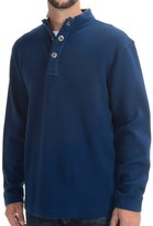 Viyella Mock Neck Shirt - Zip Neck, Long Sleeve (For Men)