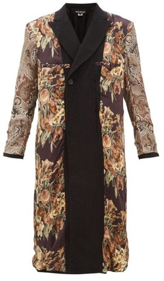 Junya Watanabe Reversible Printed Silk And Wool Coat - Womens - Black Multi