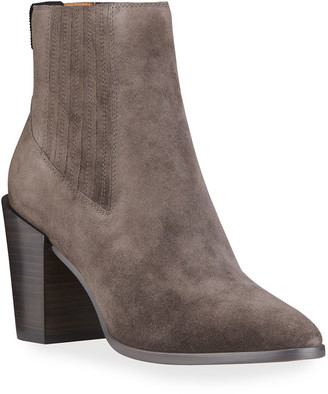 Rag & Bone Rover Pleated Suede Booties