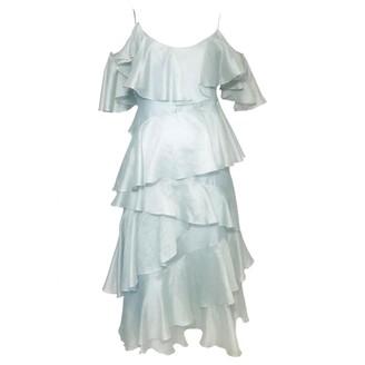 N. Anna October \N Green Silk Dresses