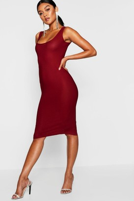 boohoo Longline Square Neck Midi Dress
