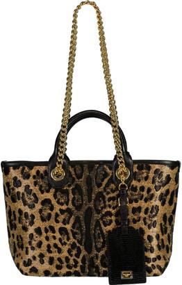 Dolce & Gabbana Capri Leopard Print Mini Tote