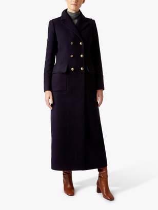 Hobbs Bianca Maxi Coat, Navy