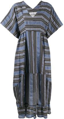 Henrik Vibskov Striped Shift Midi Dress
