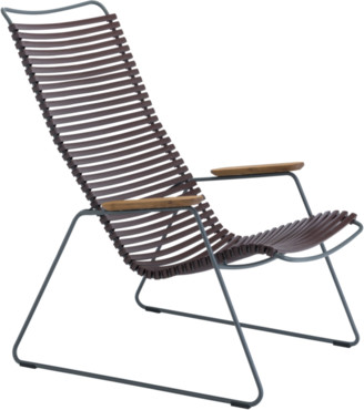 Ecc Lighting & Furniture Click Outdoor Lounge Chair Plum