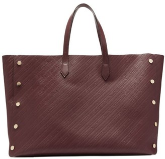 Givenchy Bond Large Logo-debossed Leather Tote Bag - Burgundy
