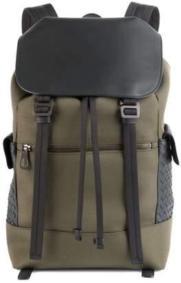 Bottega Veneta Intrecciato Trim Canvas Backpack