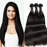 AS Hair Brazilian Virgin Hair Straight 4 Bundles Unprocessed Straight Hair Weave Bundles 8-28inch 100% Human Hair Straight Natural Black