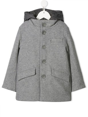 Herno Hooded Button-Down Coat