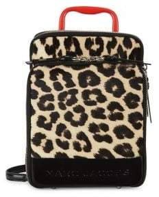 Marc Jacobs Leopard-Print Calf Hair Retro Backpack