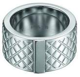 Esprit Cross the Line Men's Ring Rhodium-Plated Stainless Steel
