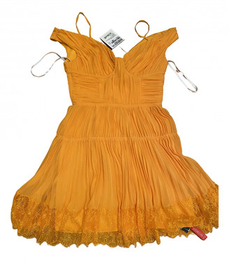 Self-Portrait Orange Polyester Dresses