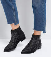 Asos Auto Pilot Wide Fit Suede Studded Ankle Boots