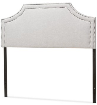 BEIGE Albee Upholstered Panel Headboard Latitude Run Size: Full, Color: Grayish