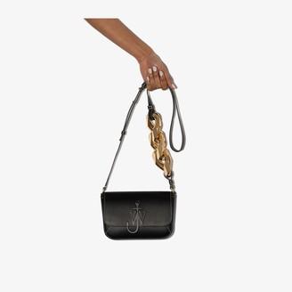 J.W.Anderson black Anchor chain strap leather shoulder bag