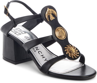 Givenchy Gold Button Charm Sandal