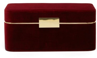 AERIN Beauvais Velvet Jewellery Box - Burgundy