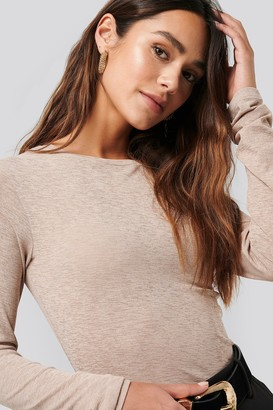NA-KD Sheer Long Sleeve Top