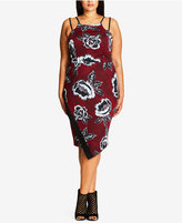 City Chic Trendy Plus Size Jacquard Bodycon Dress