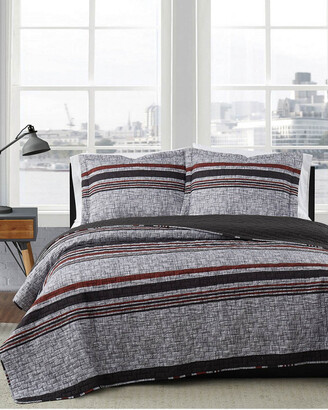 London Fog Warren Stripe Quilt Set
