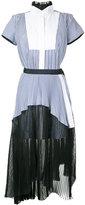 Sacai layered shirt dress