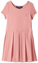 Polo Ralph Lauren Pleated Ribbed Ponte Dress Girl's Dress