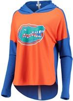 Unbranded Women's Orange Florida Gators Missy Feature Hoodie Long Sleeve T-Shirt