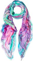 Matthew Williamson Pink Marble Modal Cashmere Large Scarf