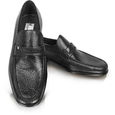 Moreschi Amburgo - Buckle Black Loafer Shoes