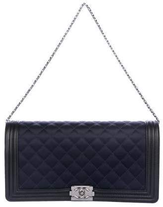 Chanel Quilted Boy Clutch
