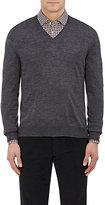 Barneys New York Men's Wool V-Neck Sweater-DARK GREY